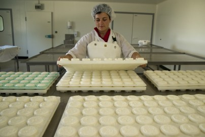 Fabrication de fromages en laiterie